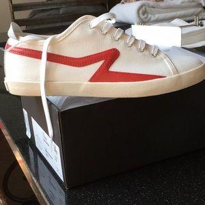 Rag & Bone Court Sneaker, white/ red, 39.5